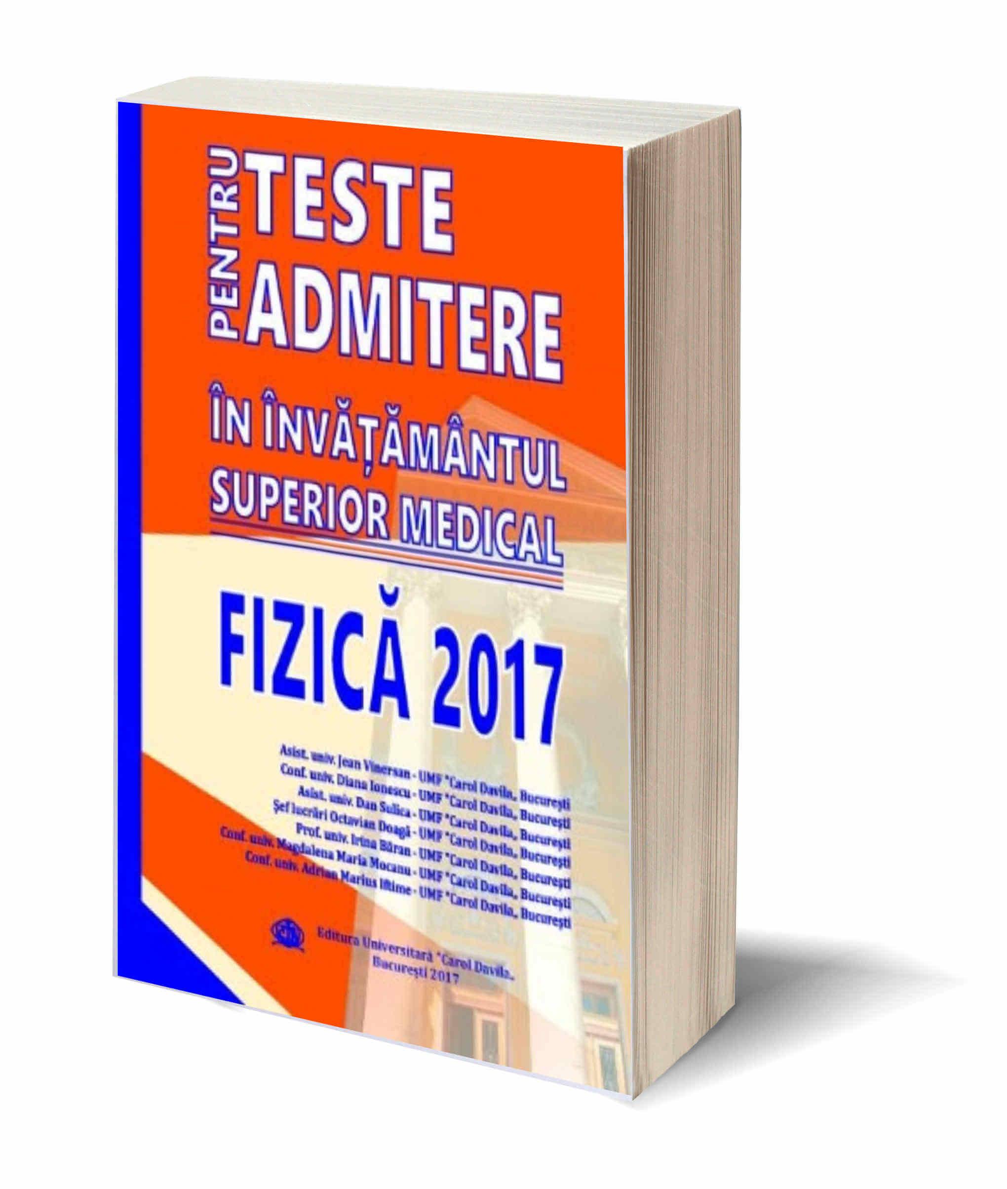 Teste de Admitere – Fizica 2017